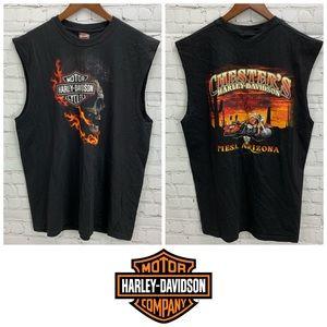 Chester's Harley Davidson Sleeveless Tee Size XL